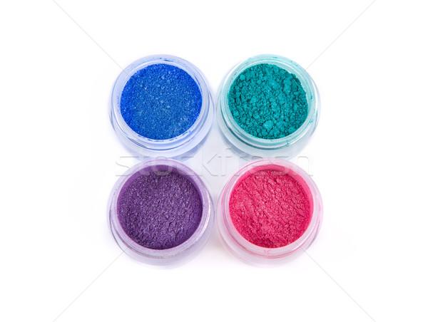 Establecer mineral ojo oscuridad pastel colores Foto stock © Elisanth