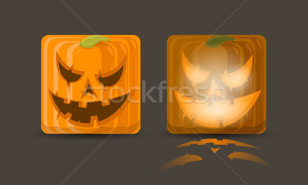Vector illustration of two pumpkin icons  Stock photo © Elisanth