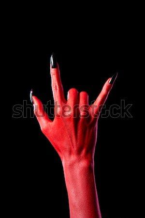 Blady krwawy zombie ręce szary Zdjęcia stock © Elisanth