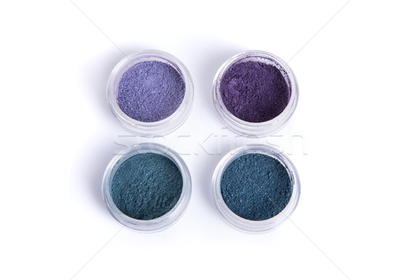 Blue and purple mineral eye shadows  Stock photo © Elisanth