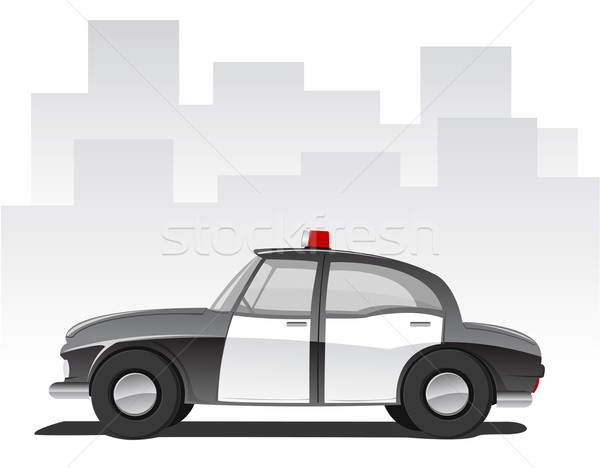 Vector illustration of cartoon police car  Stock photo © Elisanth