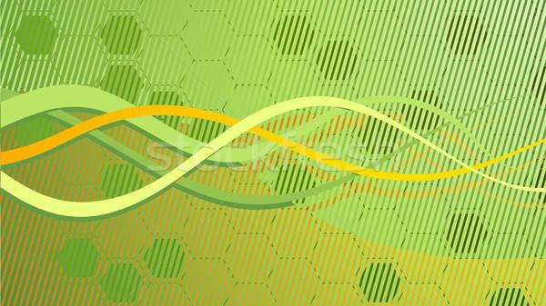 вектора аннотация зеленый интернет дизайна технологий Сток-фото © Elisanth