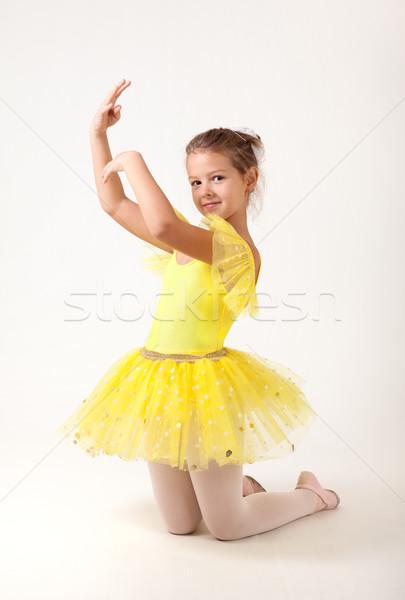 Cute little ballerina exercising  Stock photo © Elisanth