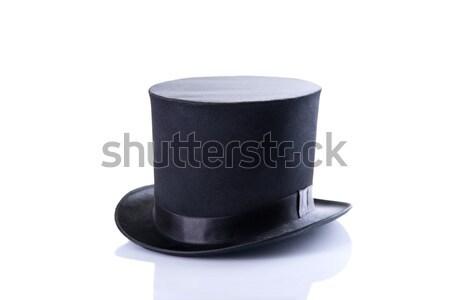 Black classic top hat  Stock photo © Elisanth