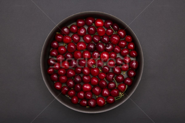 Top view of red cherries  Stock photo © Elisanth