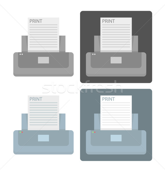 Vector set of printer icons  Stock photo © Elisanth