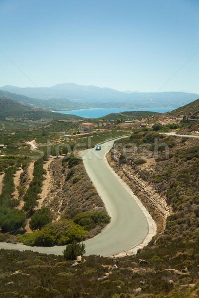 Serpentine road on island Crete, Greece  Stock photo © Elisanth