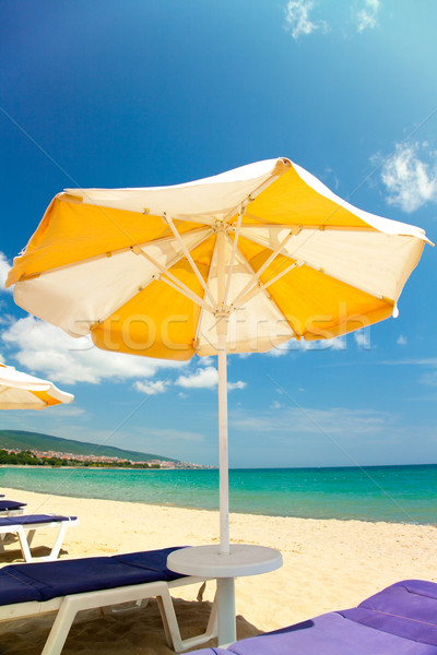 Bright umbrellas and chairs  Stock photo © Elisanth