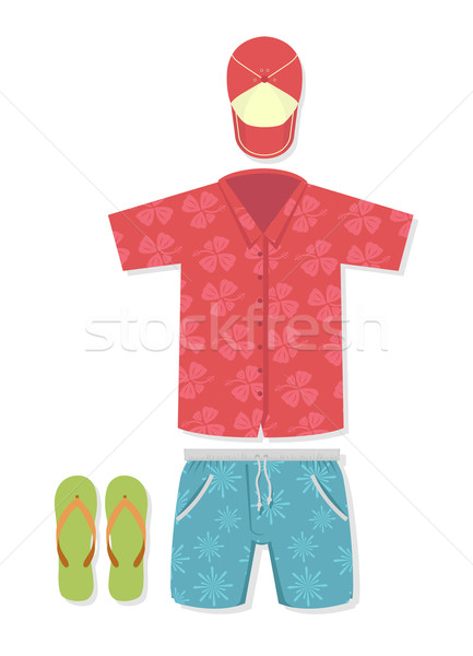 Vector illustration of tourist outfit  Stock photo © Elisanth