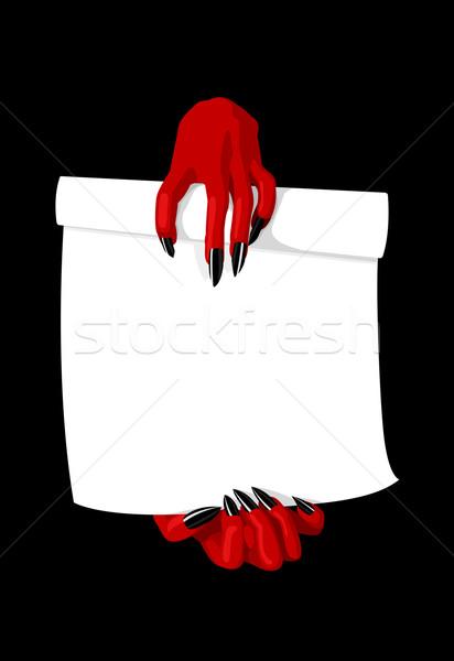 ördög kezek tart szerződés üzlet absztrakt Stock fotó © Elisanth