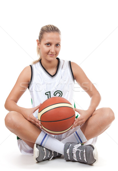 Attractive basketball player with soft smile  Stock photo © Elisanth