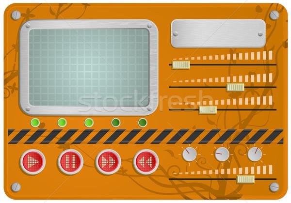 промышленных кожи игрок оранжевый цветочный текстуры Сток-фото © Elisanth