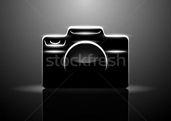 Profi digitális fényképezőgép fekete eps10 terv technológia Stock fotó © Elisanth