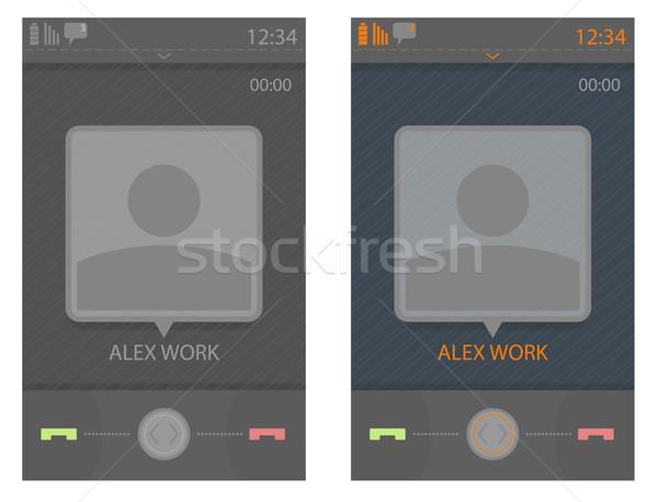 Vektör kullanıcı arayüz şablon telefon Stok fotoğraf © Elisanth
