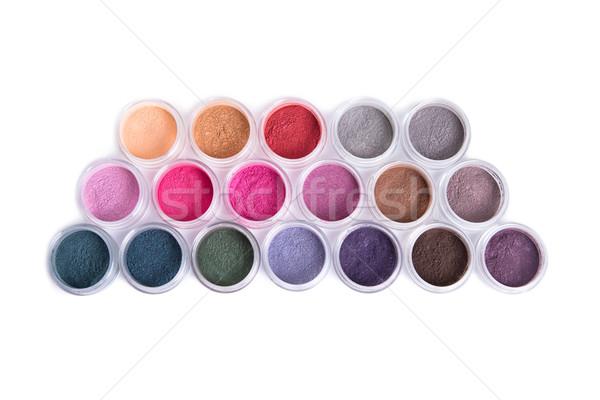 Set of bright mineral eyeshadows  Stock photo © Elisanth