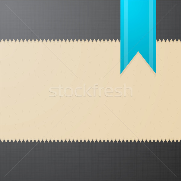 Vector textured background with blue bookmark  Stock photo © Elisanth