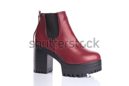 Fetiche zapatos corsé aislado blanco Foto stock © Elisanth