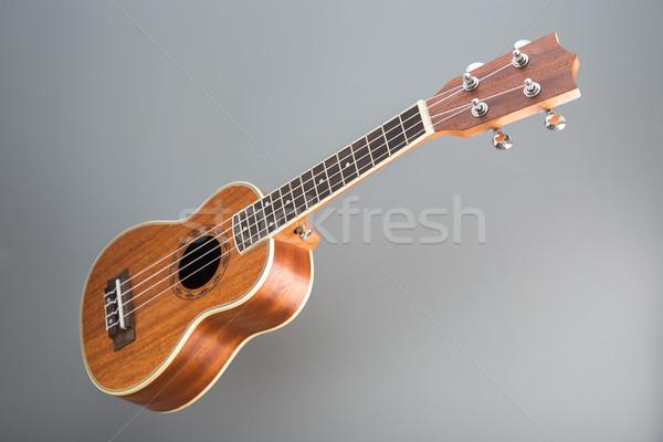 Gitar gri ahşap renk orkestra Stok fotoğraf © Elisanth