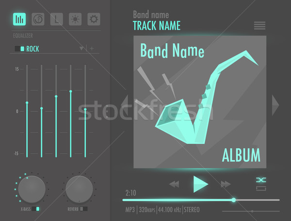 Vector audio player interface  Stock photo © Elisanth