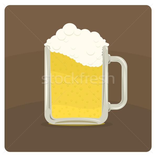 Vector illustration of beer mug  Stock photo © Elisanth