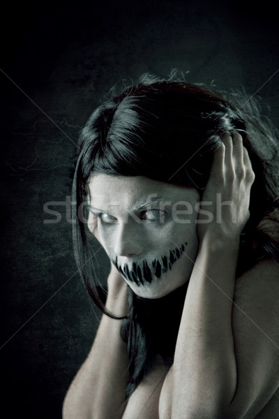 Horrible girl with scary mouth  Stock photo © Elisanth