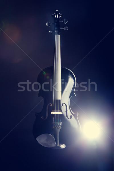 Moderno preto violino profundo azul Foto stock © Elisanth