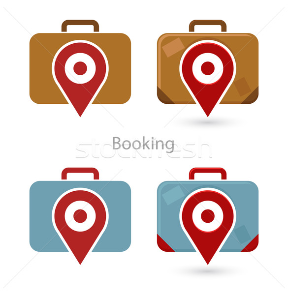 Vector set of booking icons  Stock photo © Elisanth