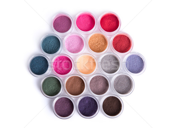Set of bright mineral eye shadows  Stock photo © Elisanth