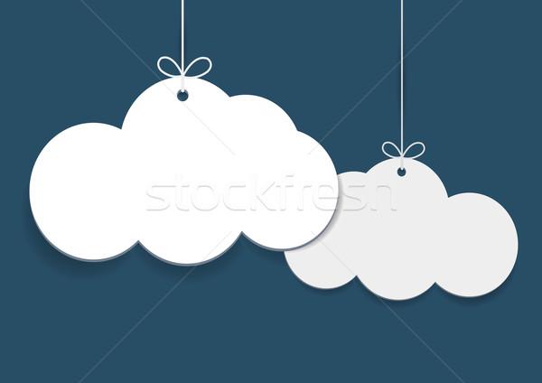 вектора простой торговых форма облака Сток-фото © Elisanth