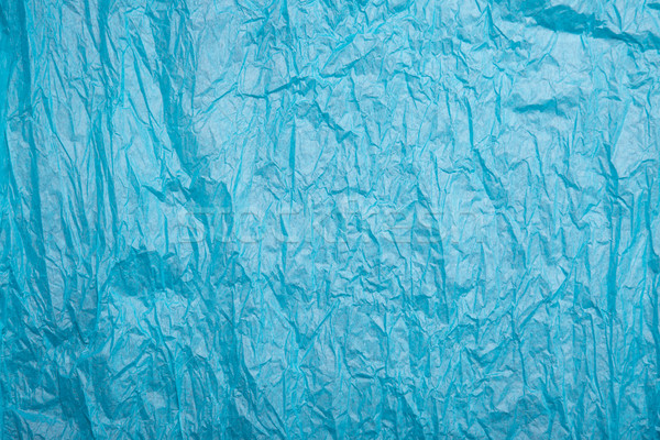 Wrinkled blue paper texture  Stock photo © Elisanth