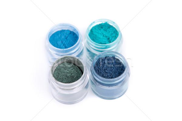 Establecer mineral ojo oscuridad azul color Foto stock © Elisanth