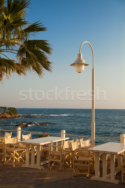Outdoors cafe with sea view  Stock photo © Elisanth