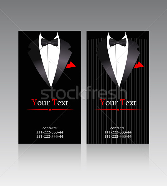 Vector business cards with elegant suits  Stock photo © Elisanth