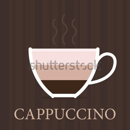 Vector cappuccino icon  Stock photo © Elisanth