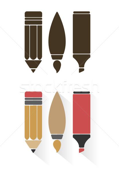 Zdjęcia stock: Wektora · sztuki · narzędzia · stylu · odizolowany