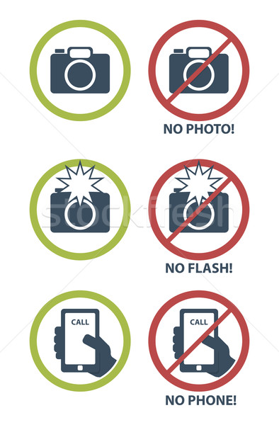 Vector set of prohibition icons   Stock photo © Elisanth