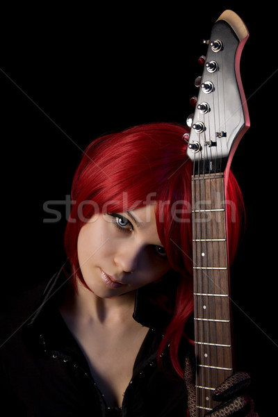 Gothic girl wearing scary contacts    Stock photo © Elisanth