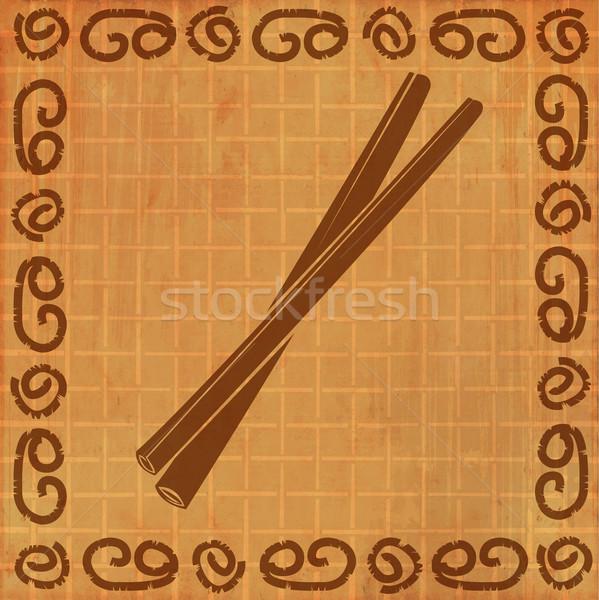 Grungy illustration of cinnamon sticks  Stock photo © Elisanth