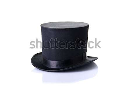 Black classic top hat, isolated on white background  Stock photo © Elisanth