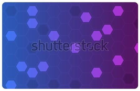 Vector abstract Blauw illustratie wetenschap business Stockfoto © Elisanth
