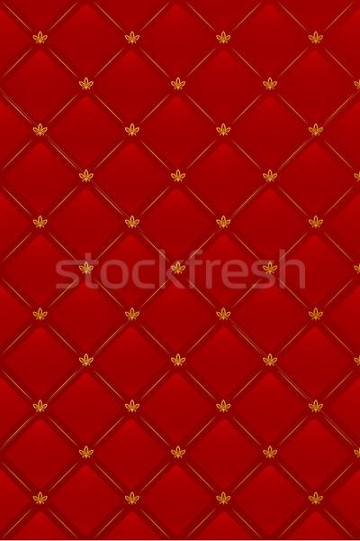 красный кожа шаблон цветок текстуры Сток-фото © Elisanth