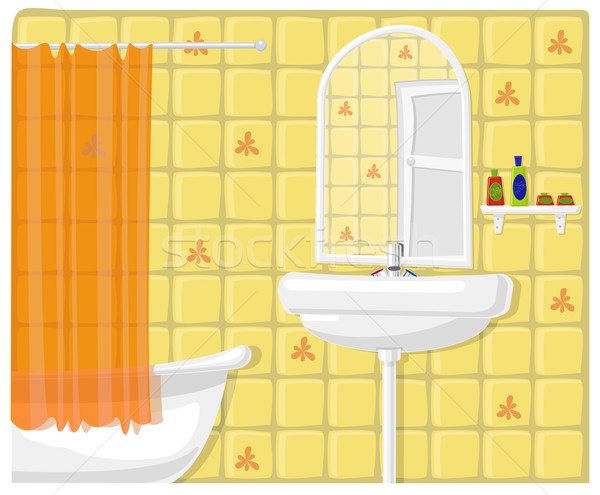 Vector illustration of bathroom  Stock photo © Elisanth