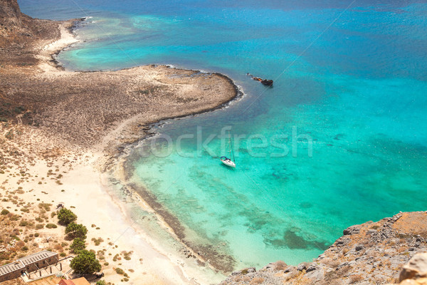 Beautiful tropical beach with turquoise water  Stock photo © Elisanth