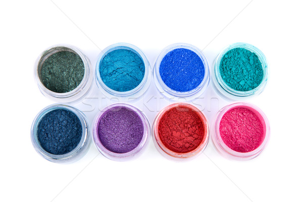 Set of colorful powder eye shadows  Stock photo © Elisanth