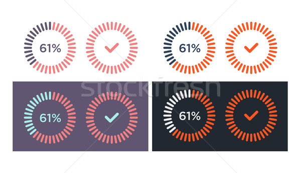 Vector set of simple loading icons  Stock photo © Elisanth