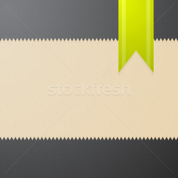 Vector abstract textured background with green bookmark  Stock photo © Elisanth