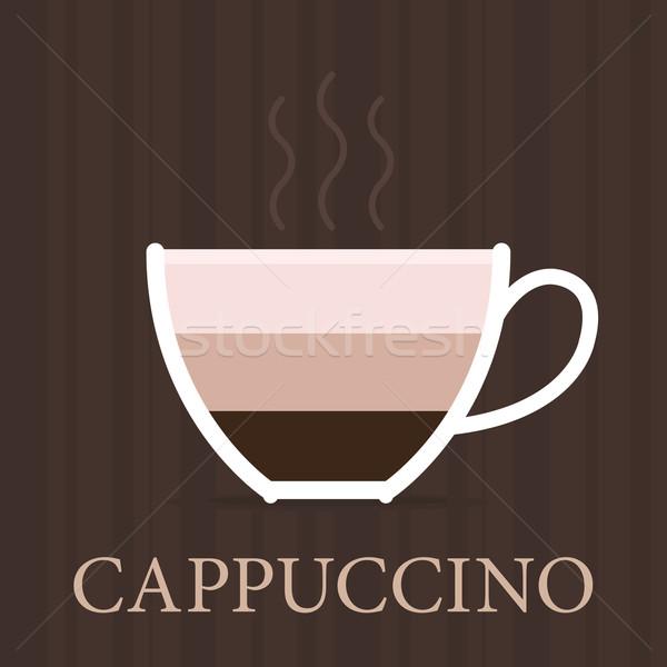 Foto stock: Vector · café · icono · vintage · estilo · pastel
