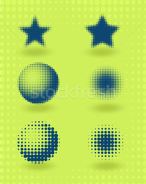 вектора набор полутоновой дизайна Элементы зеленый Сток-фото © Elisanth