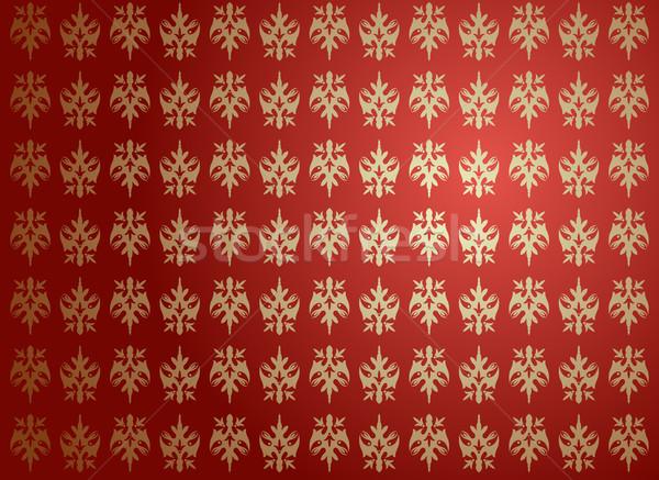 гламур красный цветок ретро цвета Vintage Сток-фото © Elisanth