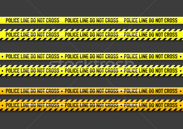 Vector Police line do not cross tape  Stock photo © Elisanth